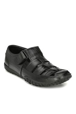 Afrojack Premium Black Fisherman Sandals