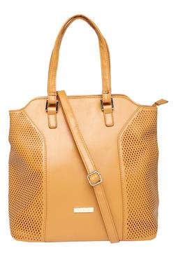 Addons Tan Cut Work Shoulder Bag