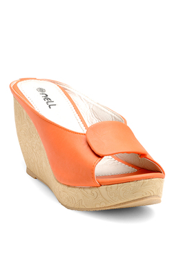 Nell Orange Wedge Heeled Sandals