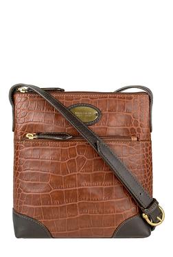 Hidesign Saturn 02 Brown Textured Leather Sling Bag