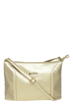 Addons Rose Gold Cut Work Sling Bag