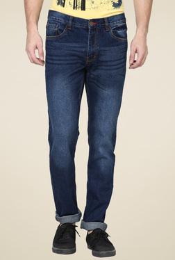 Newport Slim Fit Men Dark Blue Jeans