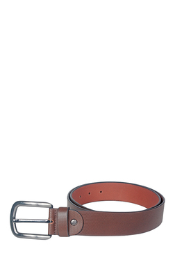 Kara Brown Textured Narrow Belt