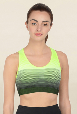 Da Intimo Green Non Wired Padded Sports Bra