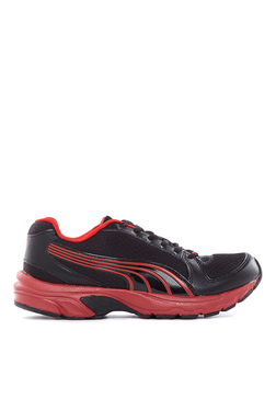 Puma Brent DP Black & High Risk Red Running Shoes