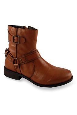 Salt 'n' Pepper Criminal Cognac Biker Boots