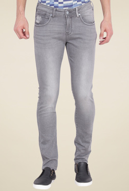 Wrangler Light Grey Lightly Washed Jeans