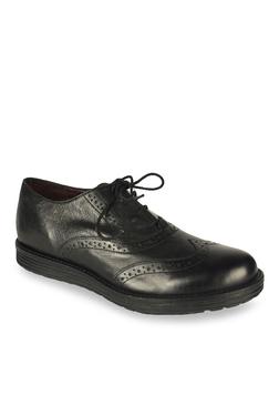 Salt 'n' Pepper Cica Black Brogue Shoes