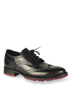 Salt 'n' Pepper Rafael Black Brogue Shoes