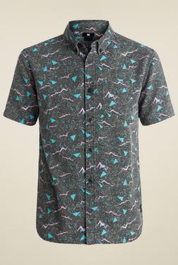 DC Dark Grey Short Sleeves Cotton Shirt