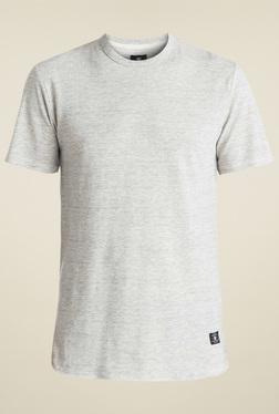 DC Off-White Round Neck Cotton T-Shirt