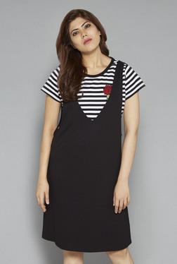 Sassy Soda By Westside Black Slip Dress With T-shirt