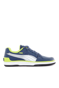 Puma Unlimited Lo DP Dark Denim & Lime Punch Sneakers