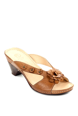 Pavers England Tan Casual Sandals