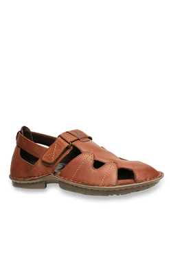 Hush Puppies New Decent Oily Brown Ankle Strap Sandals