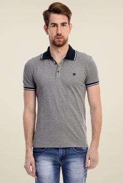 Celio* Grey Short Sleeves Cotton T-Shirt