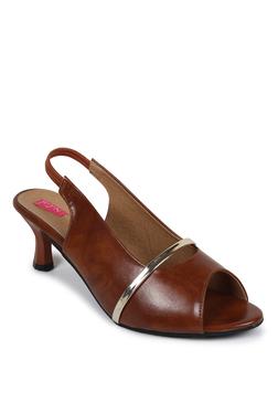 N-Gal Dark Brown Sling Back Sandals
