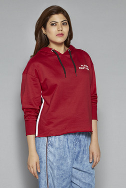 Sassy Soda By Westside Red Pure Cotton Pullover