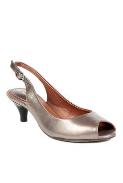 Clarks Dolphin Splash Metallic Back Strap Sandals