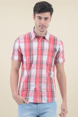 Pepe Jeans Red Short Sleeves Checks Shirt