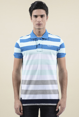 Pepe Jeans Blue Short Sleeves Slim Fit Polo T-Shirt