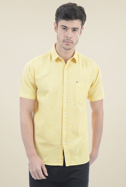 Pepe Jeans Yellow Short Sleeves Striped Shirt