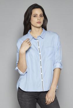 LOV By Westside Light Blue Franzi Shirt