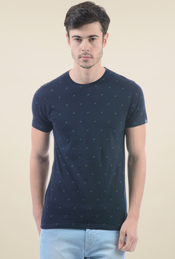 Pepe Jeans Navy Round Neck Short Sleeves Printed T-Shirt