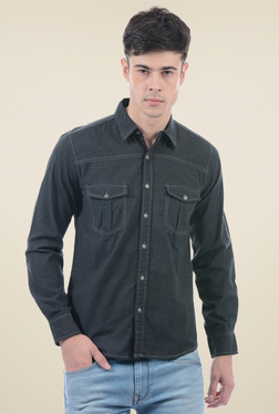 Pepe Jeans Black Full Sleeves Regular Fit Shirt