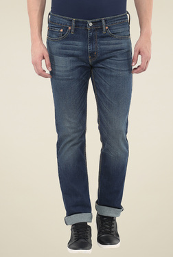 Levi's 511 Dark Blue Lightly Washed Slim Fit Jeans