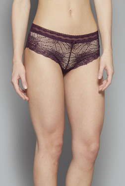 Wunderlove By Westside Deep Wine Leticia Hipster Briefs