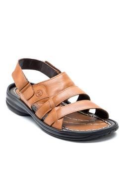 Franco Leone Tan Back Strap Sandals