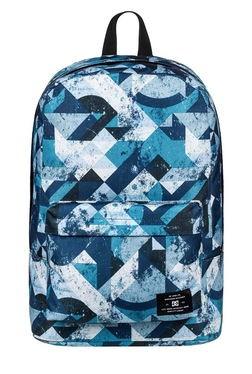 DC Bunker Blue Printed Polyester Laptop Backpack