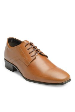 Franco Leone Tan Derby Shoes