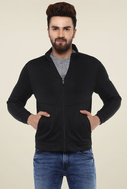 Mufti Black Slim Fit High Neck Slim Fit Jacket