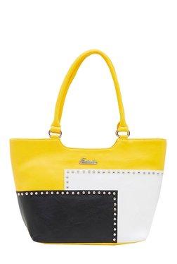 Esbeda Yellow & Black Riveted Shoulder Bag