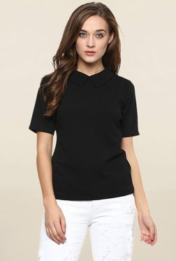Miss Chase Black Solid Top - Mp000000001695004