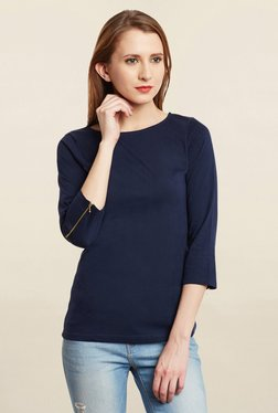 Miss Chase Navy Solid Top
