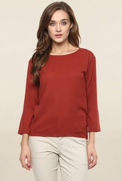 Miss Chase Brick Red Solid Top