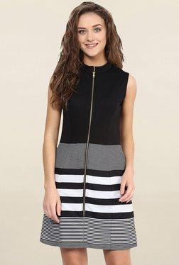 Miss Chase Black & White Striped Dress - Mp000000001694688