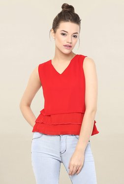 Miss Chase Red Solid Top