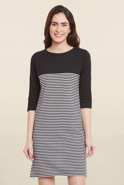Miss Chase Black & White Striped Dress - Mp000000001695409