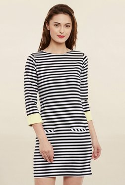 Women's Black & White Striped Shift Dress