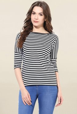 Miss Chase Black & White Striped Top - Mp000000001695650