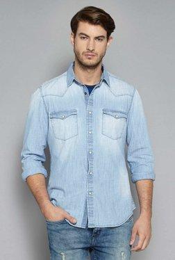 Nuon By Westside Light Blue Slim Fit Shirt