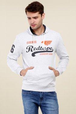 Red Tape Grey Full Sleeves Hooded Sweatshirt