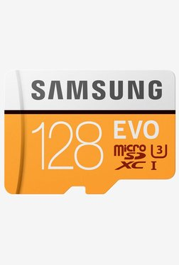 Samsung EVO 128 GB MicroSDXC Memory Card With SD Adapter
