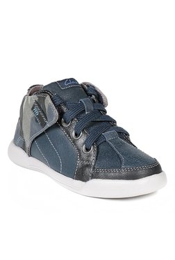 Clarks Kintor Boy Navy & Black Ankle High Sneakers