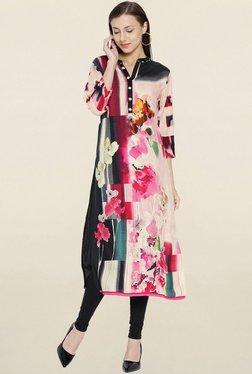 Shree Pink & Beige Floral Print Kurta