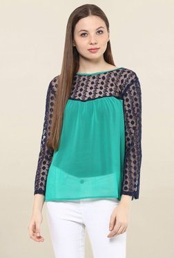 Mayra Green Lace Top